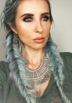 Norvina with pastel dyed hair in fishtail braid! #ABH #norvina #claudia  Luxy Lash ♥ Use promo code LUXYPIN at checkout for a Pinterest Exclusive 15% Discount Off All Items! Luxy Lash ♥ Premium Mink Lashes ♥