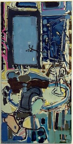 Patrick Heron, The Blue Window : 1952 Patrick Heron, Galerie D'art, Modern Artists, Art For Art Sake, Christian Art, Painting Inspiration, Abstract Art, Abstract Paintings, In This World