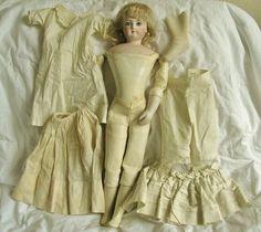 "Antique Vintage 1800's French Fashion Bisque Doll Terrene Body 17"" | eBay"