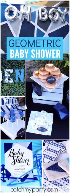 Check out this awesome geometric baby shower brunch! See more party ideas at CatchMyParty.com!