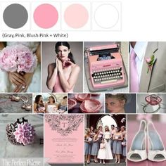Pink + Grey wedding color palette    there we go! I will probably add a lighter gray/silver