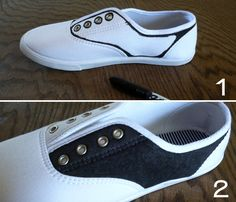 Perfect for costume - Faux Saddle Shoes Tutorial! Sock Hop Outfits, 50s Outfits, Rave Outfits, Disfraz Rock And Roll, Halloween Kostüm, Halloween Costumes, Vampire Costumes, Sock Hop Costumes, Grease Costumes