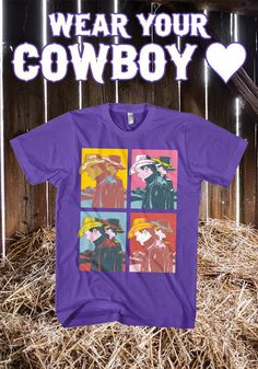 Boots, Chaps, and Cowboy Hats; Wear Your Cowboy ❤  It gets lonely out there on the prairie.  But that's no reason to skip out on style.  Lucky for you, there's the Cowboy Love Tee.  Available to order to 17th Dec only, American Apparel Unisex, Women's Tees & Long Sleeve options.  Delivery via UPS US & International