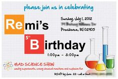 Science, Mad Scientist Birthday Party Ideas | Photo 1 of 15