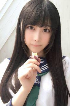 Uniform like one Kagome Higurashi used to wear Cute Asian Girls, Beautiful Asian Girls, Cute Girls, School Girl Japan, Japan Girl, Japanese Beauty, Asian Beauty, Schoolgirl Style, Cute Japanese Girl