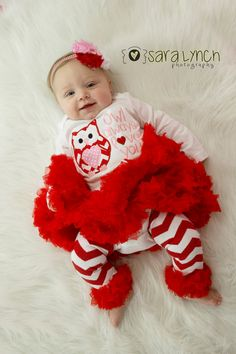 baby girl first Valentines Day onesie outfit pink by GinaBellas1 ...