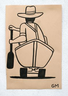 This is my favorite Geoff McFetridge drawing from this series.   http://www.solitaryarts.com/blogs/whats-new/3057592-geoff-mcfetridge-x-nike-sb-paper-dunk-artwork-for-moca