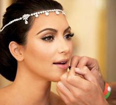 as much as I don't like kim kardasian, her make up here is nice. Wedding-Bridal Make Up Trend in 2012
