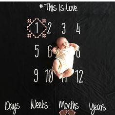 Baby Milestone blanket Age swaddle blanket