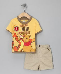Take a look at this Yellow 'New Adventurers' Tee & Shorts - Infant by Winnie the Pooh on #zulily today!