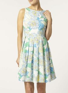 Photo 3 of floral printed cotton poplin dress
