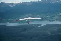 Hang Gliding | Hang glider flying above Green Mountain Reservoir in Summit County ...