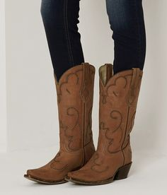Corral Perforated Cowboy Boot - Women's Shoes | Buckle