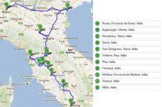 Roteiro de carro pelo norte da Itália Ravenna, Toscana, Siena, Verona, Italy, Map, Bella, Travel Ideas, Travelling
