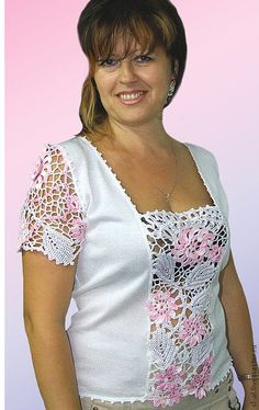 58 Plus Size Blouses To Update You Wardrobe Now Cute Plus Size Blouses from 58 of the Adorable Plus Size Blouses collection is the most trending fashion outfit this season. This Plus Size Blouses lo. Crochet Fabric, Freeform Crochet, Crochet Blouse, Irish Crochet, Crochet Lace, Crochet Summer, Crochet Clothes, Diy Clothes, Outfit Trends