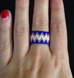 Handmade Chevron Ring  by ClaireElizabethB on Etsy