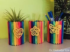Popsicle sticks, pencils and pencils Wooden Popsicle sticks lollipop … - DIY Blumen Popsicle Stick Crafts For Kids, Easy Crafts For Kids, Craft Stick Crafts, Paper Crafts, Popsicle Sticks, Diy Craft Projects, Diy Home Crafts, Rock Crafts, Arts And Crafts