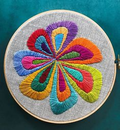 My first ever embroidery! you know this is a big deal. I like to make art in days max. Abstract Embroidery, Mexican Embroidery, Floral Embroidery Patterns, Hand Embroidery Videos, Hand Embroidery Stitches, Modern Embroidery, Hand Embroidery Designs, Diy Embroidery, Cross Stitch Embroidery