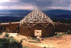 Dome under construction at Lama Foundation, where Drunvalo Melchizedek stayed for 2 yrs...