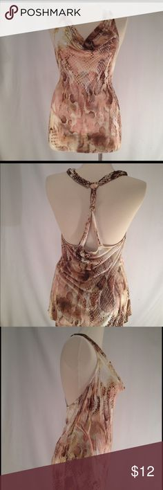 Draped Summer Top Like new in great condition. Only worn once. Express Tops Tank Tops
