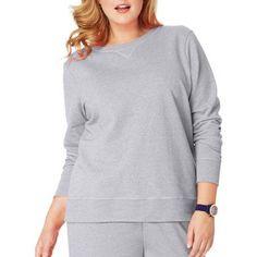 Just My Size Women's Plus-Size Fleece Sweatshirt, Size: 3XL, Silver