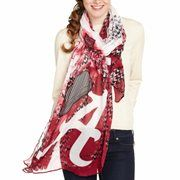 Alabama Crimson Tide Ladies Watercolor Scarf - White/Black/Crimson It's time for the greatest deal of the YEAR! Save 30% on orders over $60 when you use the code: CFLASH. Don't wait, inventory is limited!