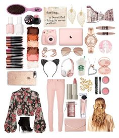 """Untitled #32"" by uneaten-taco ❤ liked on Polyvore featuring Jill Stuart, Yves Saint Laurent, Balenciaga, Major Moonshine, Ilia, Lancôme, Casetify, Michael Kors, Hershesons and Sasha"