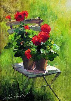 watercolor geraniums                                                                                                                                                      More
