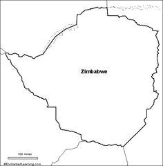 outline map Zimbabwe