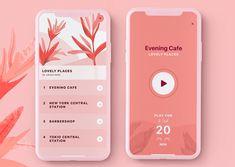 Pure mind app UI by ianpavetra Web Design, App Ui Design, Flyer Design, Branding Design, Site Design, Mobile App Design, Mobile App Ui, To Do App, Mindfulness App
