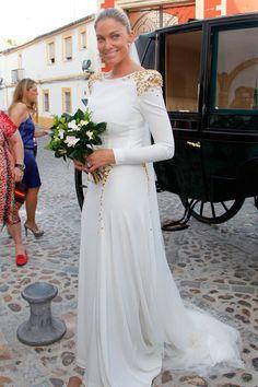 Mercedes Bohórquez Domecq con vestido de Roberto Diz