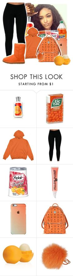 """ootn. 💛Ashley💛"" by geazybxtch24 ❤ liked on Polyvore featuring beauty, UGG Australia, Soap & Glory, MCM, Eos and Furla"