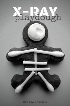 Best Toys 4 Toddlers - X-Ray Playdough - invitation to play and learn about human body with playdough, perfect for toddlers, preschoolers and kindergarteners