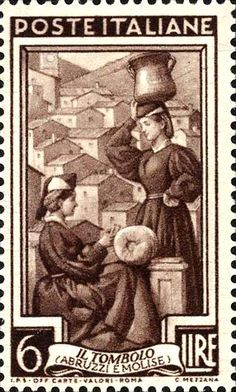 Stamp Lace-making Abruzzi e Molise - Italy Rome Florence, Postage Stamp Art, Love Stamps, Vintage Stamps, Vintage Italian, Stamp Collecting, Mail Art, Poster, Drawings