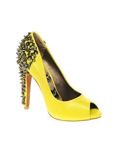 piked Peep Toe Court Shoes  Sam Edelman Lorissa Spiked Peep Toe Court Shoes