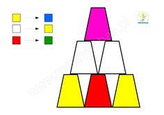 piramidy z kubków, kodowanie dla dzieci, kodowanie z kubeczkami, kodowanie na dywaniejednorazowymi Montessori Activities, Preschool Math, Preschool Worksheets, Kindergarten, Busy Boxes, Coding, Education, Kids, Google