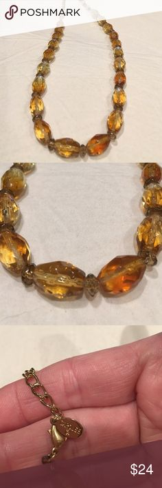 Vintage CAROLEE Amber Lucite Necklace Vintage CAROLEE Amber Lucite Necklace carolee Jewelry Necklaces