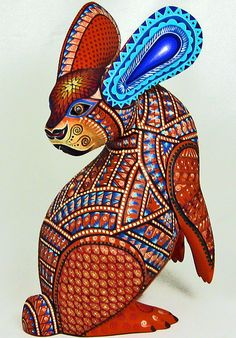 Oaxacan wood carving  by Jacobo & Maria Angeles.