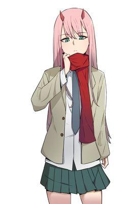 Zero Two (Darling in the FranXX) Image - Zerochan Anime Image Board Anime Echii, Mecha Anime, Chica Anime Manga, Anime Art, Querida No Franxx, Cute Girls, Cool Girl, Desu Desu, Koro Sensei