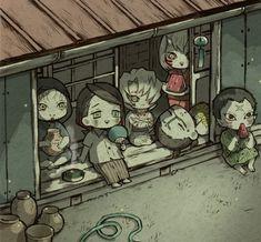 Anime Chibi, Manga Anime, Slayer Meme, Memes, Pretty Photos, Akatsuki, Fan Art, Animation, Painting