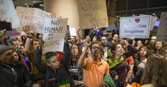 Protests erupted Saturday at airports in Boston, Chicago, Dallas, Denver, Los Angeles, San Francisco, Seattle, and outside of Washington, D.C., where foreign travelers were being detained. (Photo: Getty)