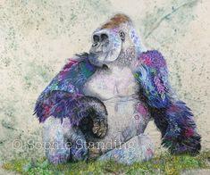 'Silverback'Eastern Mountain Gorilla.(2016) 100cm x 120cm