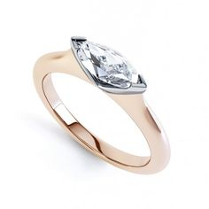 Atlantis East-West Marquise diamond engagement ring crafted in a uniquely striking Marquise solitaire diamond ring design. Simple Diamond Ring, Rose Gold Diamond Ring, Marquise Diamond, White Gold Diamonds, Diamond Ice, Marquise Cut, Anniversary Rings, Atlantis, Ring Designs
