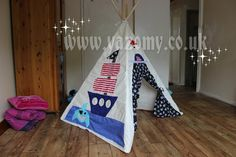 Play Tent.Pirate teepee.Boy indoor by MyourCrafts on Etsy