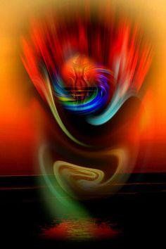 'Himmlische Erscheinung' by Walter Zettl on artflakes.com as poster or art print $22.17
