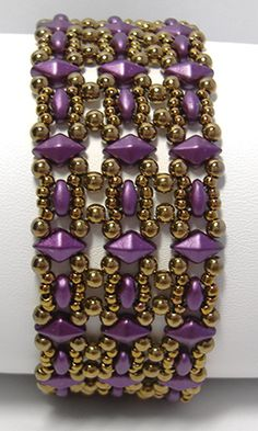 Trestle Band using DiamonDuo beads