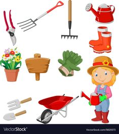 Cartoon women holding watering gardening tool vector image on VectorStock Fall Preschool Activities, Preschool Education, Spring Activities, Educational Activities, Preschool Crafts, Infant Activities, People Who Help Us, First Fathers Day Gifts, School Clipart