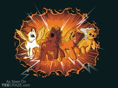 Four Little Ponies of the Apocalypse T-Shirt - http://teecraze.com/four-little-ponies-t-shirt/ - Designed by Santo76 #tshirt #tee #art #fashion #TCRZ #clothing #apparel