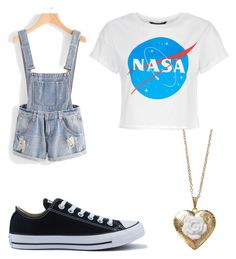 """""""Untitled #41"""" by weliapotter on Polyvore featuring Converse and Poporcelain"""