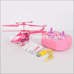 3.5 Channel Remote Control Helicopter 33013 with Gyroscope Pink - Tmart.com